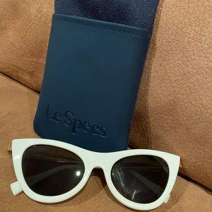 White Le Specs Sunglasses